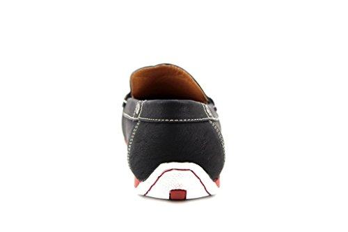 Heren D1513 Contrastzool Mocassin Slip Op Loafer Vrijetijds-schoenen Zwart