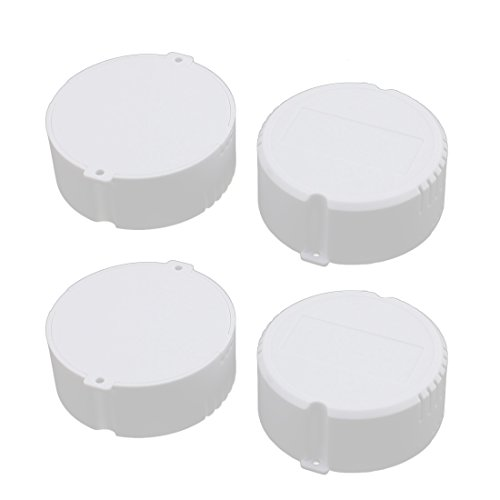 uxcell 4 Pcs 77mm x 31.5mm XL-164 PC Flame Retardant Enclosure Junction Box Round for LED Driver - Enclosure Led
