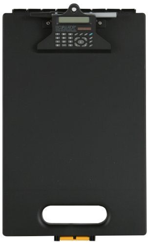 Dexas Clipcase Calculator Storage Clipboard, Black - Storage Clipboard Calculator