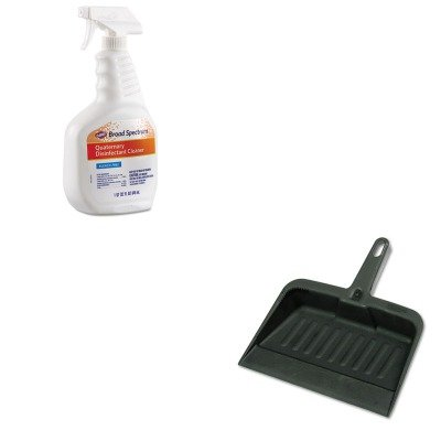 KITCOX30649RCP2005CHA - Value Kit - Clorox Broad Spectrum Quaternary Disinfectant Cleaner (COX30649) and Rubbermaid-Chrome Heavy Duty Dust Pan (RCP2005CHA) by Clorox