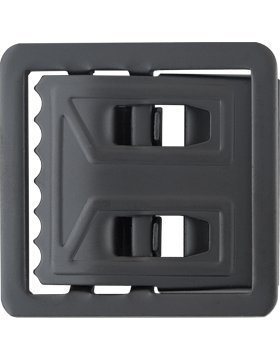 Black Metal Utility Buckle (Open Face)