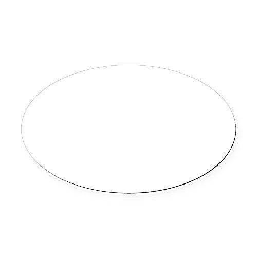 CafePress - Plain blank Oval Car Magnet - Oval Car Magnet, Euro Oval Magnetic Bumper Sticker (Plain Car)