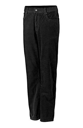 5 Pocket Stretch Cord Pant - Cutter & Buck Men's Greenwood Stretch Five Pocket Cord, Black, 38