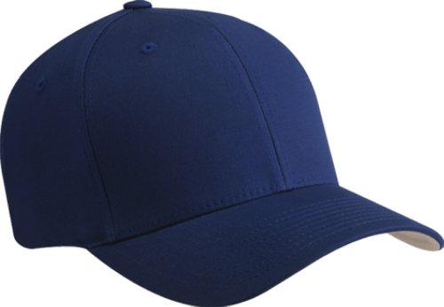 Mid Profile 6 Panel (Yupoong Flexfit® 6-Panel Structured Mid-Profile Cap - ROYAL - S/M 5001-simple)