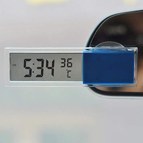 JIAIIO Auto Car 2 in 1 Digital LCD Clock Thermometer with Suction Cup