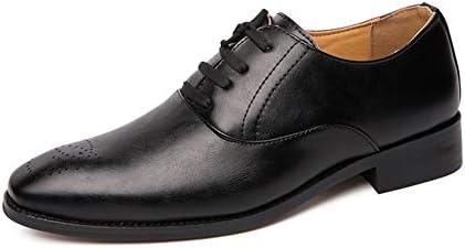 WMZQW Clásica para Hombre de Negocios Oxford Zapatos de Punta Cabeza Casual Formales Boda Smoking Zapatos de Vestido Negro Beige 38-48