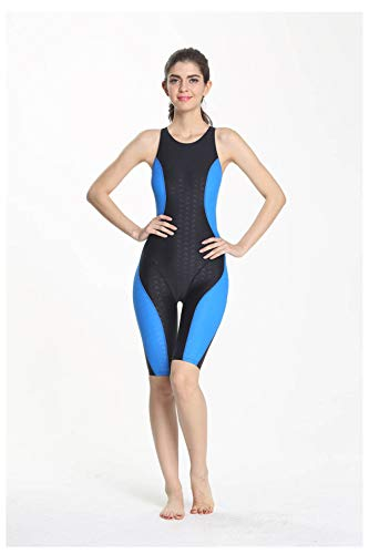178d9a13ecd Srnfean Women`s Professional Athletic One Piece Swimsuit Durable Training  Backless Swimwear with Trunks to