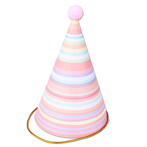 pink birthday cone hats - 9