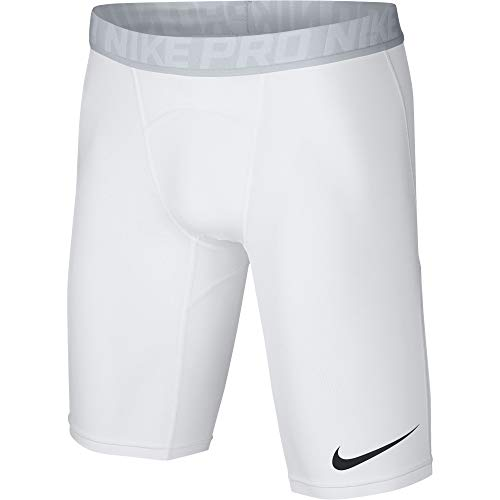 Nike Men's Pro Training Shorts, White/Pure Platinum/Black, Small by Nike (Image #1)