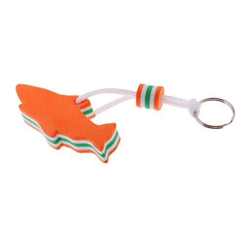 (NATFUR EVA Dolphin Shaped Floating Key Ring Key Chain for Boat Yacht Sailing Orange Cute for Men Novelty Great Lovely Beauteous)
