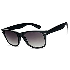 Sunglass Stop - Wayfarer RX Strength Magnification Reading Eye Glasses +1.00 +1.50 +2.00 +2.50 +3.50 Readers Eyewear (Black Sun Readers, 2.25)