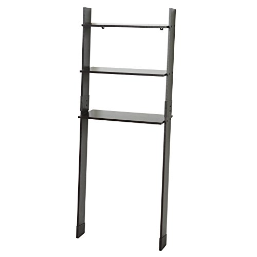 Zenna Home 9431CH, Leaning Wood Ladder-Style Bathroom Spacesaver, Espresso Espresso Space Saver