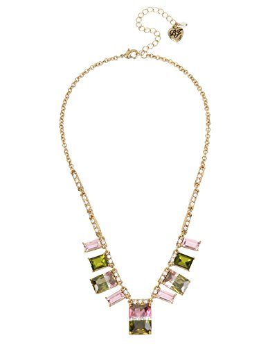 Betsey Johnson Marie Antoinette Tourmaline Faceted Stone Necklace