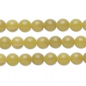 Round Olive Jade Bead 6mm 16 Inch Strand. Lot of 10 Strands 660 Beads