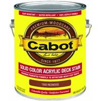 CABOT STAIN 11880 REDWOOD SOLID COLOR DECKING ACRYLIC STAIN W/ SURFACE PROTECTOR SIZE:1 GALLON. ()