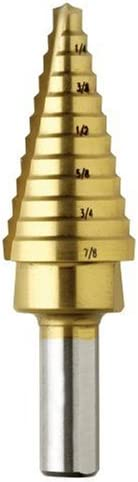 B000VC76R2 Bosch SDT2 3/16 In. to 7/8 In. Titanium-Coated Step Drill Bit 310e2BB6mEiL