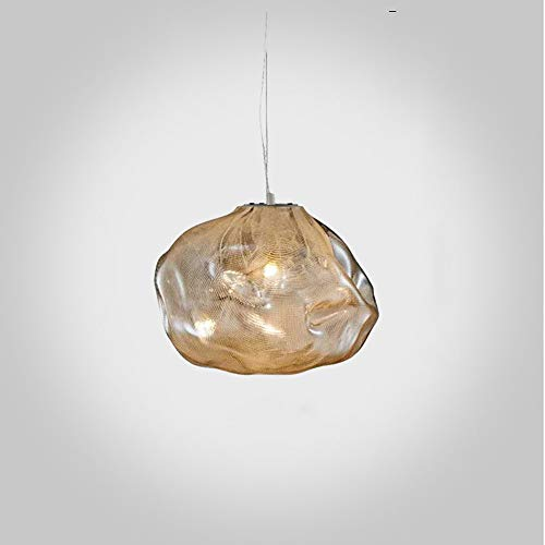Creative Pendant Lamp 1-Light Luxury Hand Blown Glass Design Led Ceiling Hanging Chandelier Fixture for Dining Room Kitchen Living Room Kids Bedroom Indoor Luminaire Art Decor