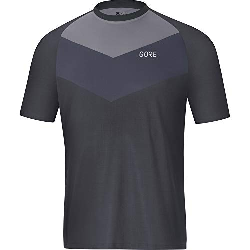 GORE Wear C5 Men's Cycling Short Sleeve Jersey, XXL, Gray