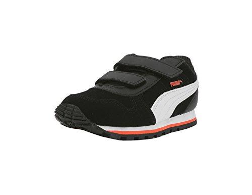 PUMA Baby ST Runner SD Velcro Kids Sneaker, Black White, 8 M US Toddler