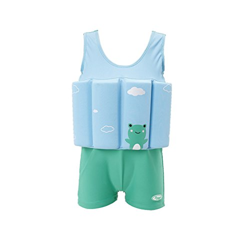 Baby Kids Floatation Suit Float One-Piece Swimwear Buoyancy for Girls Boys,Green,100(2-3T)