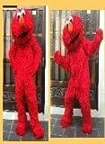 Elmo Red Monster Mascot Costume Plush Cartoon Costume