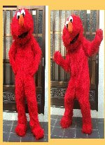 Elmo Red Monster Mascot Costume Plush Cartoon Costume]()