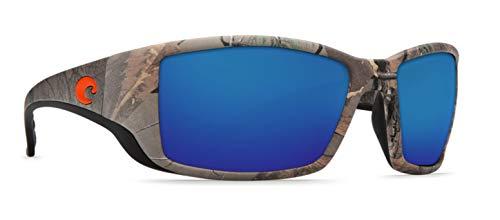 Costa Del Mar Blue Lens - Costa Del Mar Blackfin Sunglasses, Realtree Xtra Camo, Blue Mirror 580 Plastic Lens