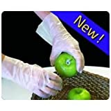 HandGards ValuGards Stretch Poly Clear Disposable Small Glove -- 1000 per case.