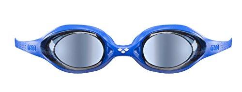 c2797659e2a0e arena Kinder Unisex Wettkampf Schwimmbrille Spider Junior Mirror  (Verspiegelt, UV-Schutz, Anti-Fog Beschichtung), Black-Silver-Green (56),  ...