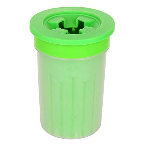 Onemai 1PC Pet Cats Dogs Foot Clean Cup for Dogs Cats Cleaning Tool Soft Plastic Washing Brush Paw Washer Pet Accessories for Dog (10.5x10.5x8.2cm, Light Green) ()