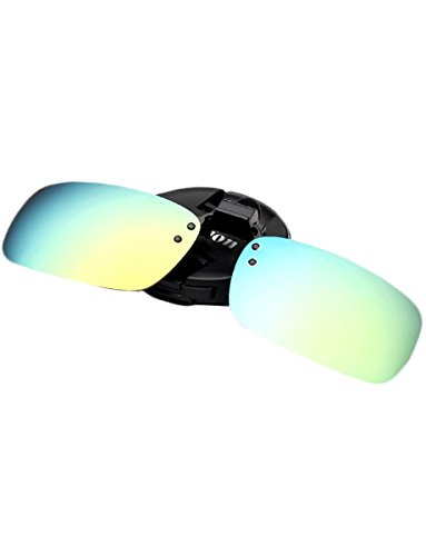 Zando Polarized Mirrored Clip-on Flip Up Sunglasses Lenses Glasses Unbreakable Driving Fishing Outdoor Sport Travelling - Free Sunglass One Get Buy Hut One