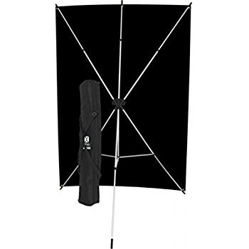 Westcott 578K X-Drop Kit with 5 x 7 Feet Black Backdrop - Black by Westcott