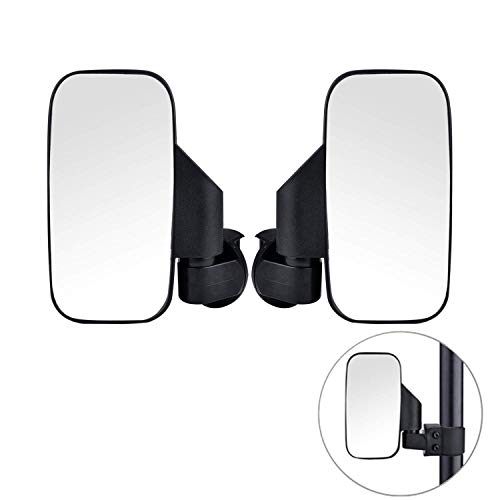 (【2019 Upgraded】UTV Side View Mirrors, Adjustable Wide Rear Clear View with Shatter-Proof Tempered Glass, Moveland UTV Off Road Accessories for Polaris RZR, Can-Am, Kawasaki, kubota, Yamaha, Maverick-2)