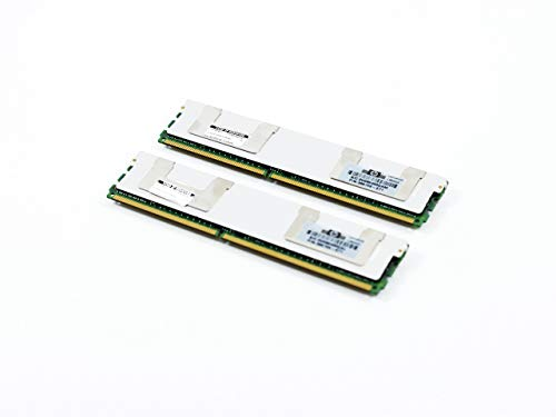 HP 16GB [2X 8GB] PC2-5300 DDR2-667 2Rx4 ECC Fully Buffered FBDIMM Memory Kit (HP PN# 413015-B21) (Renewed)