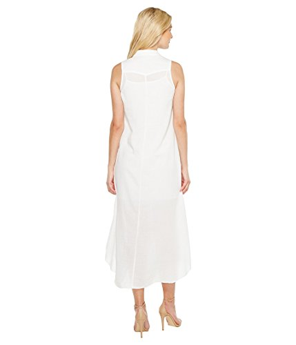 Twill Heather Maxi Shirtdress White Womens Fonda Voile wf7qrEfF