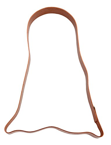 5 Inch Simple Ghost Halloween Costume Copper Cookie -