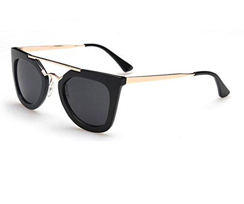 Konalla Retro Personality Large Horn Rimmed Style Double Beam Sunglasses - Love Australia Sunglasses Heart