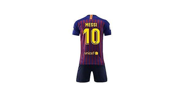 2c4bce895f575 NSFANS Barcelona Camiseta Jersey Futbol 2018-2019 Traje de niños de Manga  Corta  Amazon.es  Deportes y aire libre
