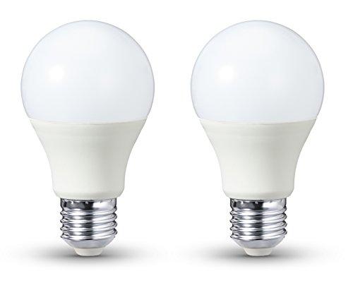 AmazonBasics LED-E27, 9 W mit einer Leuchtkraft von 60 W, 806 Lumen, Dimmbar, 2er-Pack