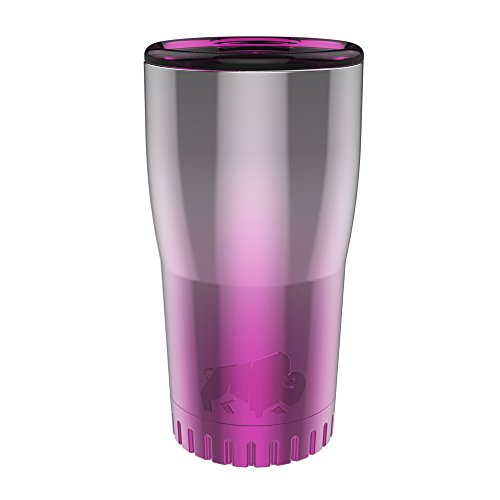 Silver Buffalo NL111395 Ombré Stainless Steel Travel Tumbler, 20-Ounces, Pink