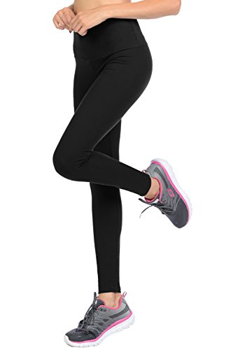 Solid Color Leggings - VIV Collection Plus Size Full Length Solid Brushed Leggings w/Pocket (Black)