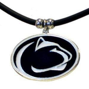 (NCAA Penn State Nittany Lions Rubber Cord Necklace)