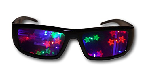 (Alternative Imagination Double Stars 3D Diffraction Glasses - Perfect for Raves, Music Festivals, and)