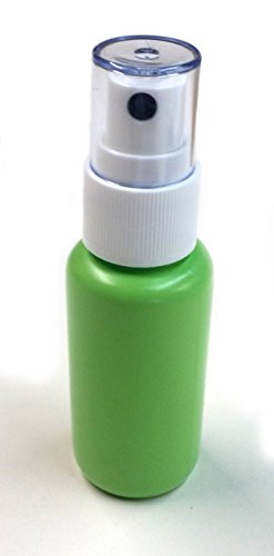 Empty (1.25 oz) BPA Free Refillable Green Plastic Fine Mist Spray Bottle (30-PACK) by Ozone Layer Products (Image #3)