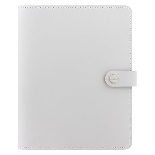 Filofax The Original Leather Organizer Agenda Calendar with DiLoro Jot Pad Refills (A5, Gray ND 026067)
