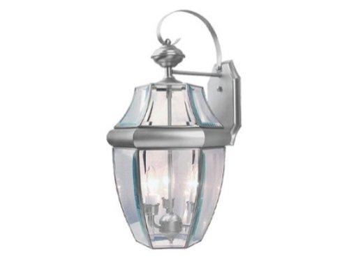 Calvin Outdoor Wall Lantern Finish: Brushed Nickel, Size: Large