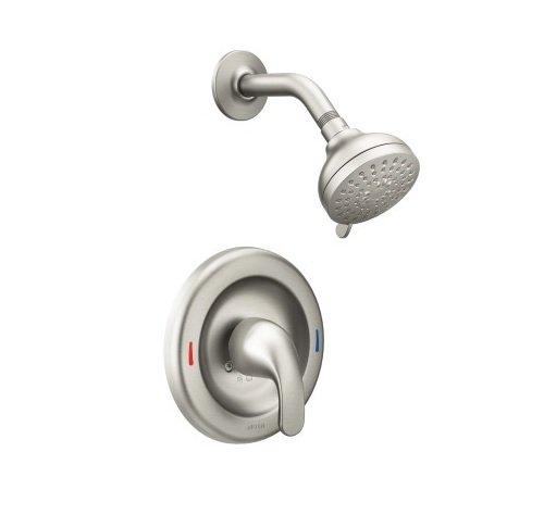 Moen 82604SRN Finish Adler 1 Handle Shower Faucet Spot Resist Brushed Nickel ()