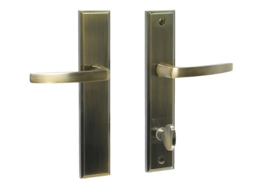 Catalina by FPL- Solid Brass Inactive Trim Only Lever Set for Multipoint Lock, Antique Brass (Storm Door Multi Point Mortise Lock Pella)