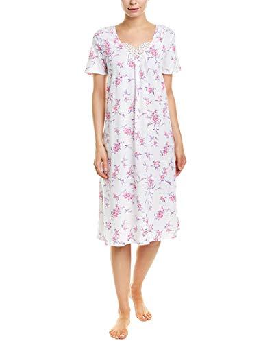 Carole Hochman Women's Waltz Nightgown, White Bouquet, M