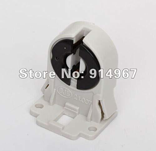 Lamp Base - 100pcs/lot, plastic AC100-250V 50/60Hz T8 Fluorescent Light LED Bulb Base Socket black and white Lamp Holder